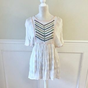 FREE PEOPLE New Romantics Embroidered Tunic Dress